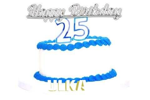 Happy Birthday Ulka Cake Image