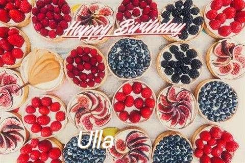 Happy Birthday Ulla Cake Image