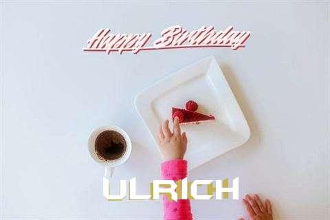 Happy Birthday Ulrich Cake Image