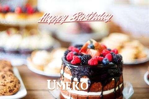 Birthday Wishes with Images of Umeko