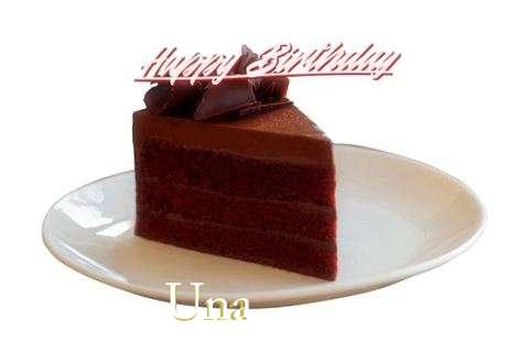 Happy Birthday Una Cake Image