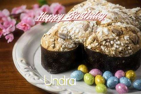 Happy Birthday Cake for Undra