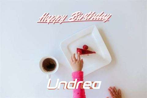 Happy Birthday Undrea Cake Image