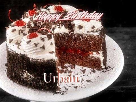 Happy Birthday Urbain Cake Image