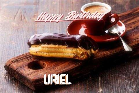 Happy Birthday Uriel Cake Image