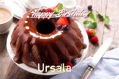 Happy Birthday Ursala Cake Image