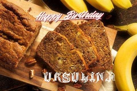 Happy Birthday Ursulina Cake Image