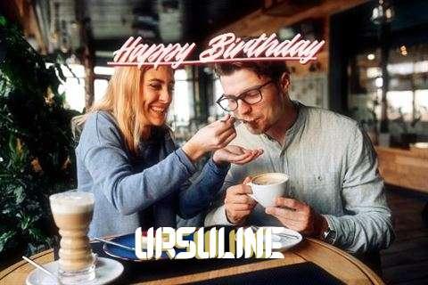Happy Birthday Ursuline Cake Image