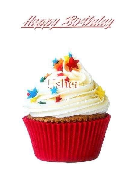 Happy Birthday Usher Cake Image