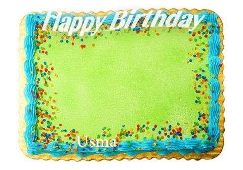 Happy Birthday Usma Cake Image