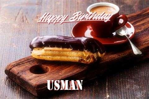 Happy Birthday Usman Cake Image