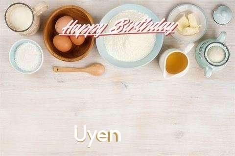 Birthday Wishes with Images of Uyen
