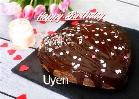 Happy Birthday Cake for Uyen