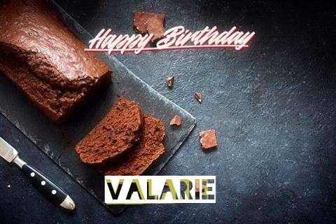 Happy Birthday Valarie Cake Image