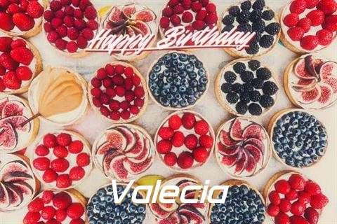 Happy Birthday Valecia Cake Image