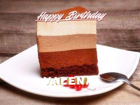 Happy Birthday Valena Cake Image