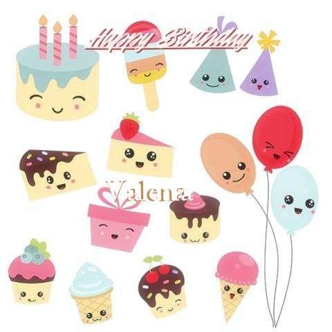 Happy Birthday Cake for Valena