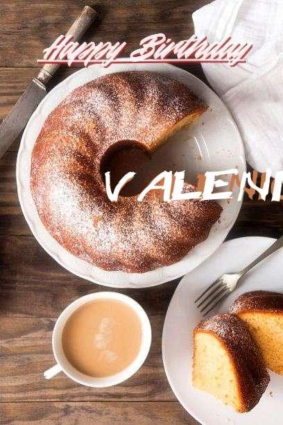 Happy Birthday Valenica Cake Image