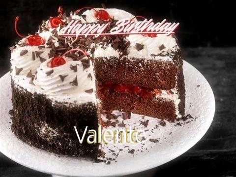 Happy Birthday Valente Cake Image