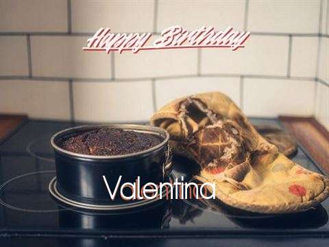 Happy Birthday Valentina Cake Image