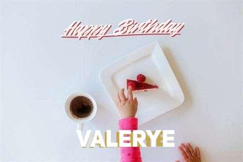 Happy Birthday Valerye Cake Image