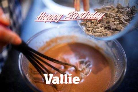 Happy Birthday Vallie Cake Image