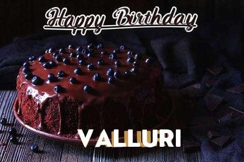 Happy Birthday Cake for Valluri