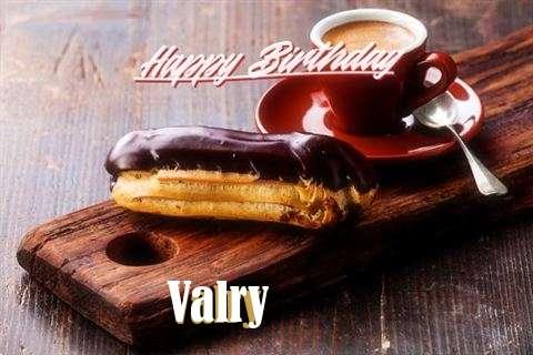 Happy Birthday Valry Cake Image