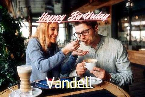 Happy Birthday Vandell Cake Image
