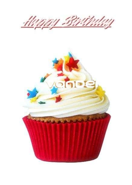 Happy Birthday Vander Cake Image