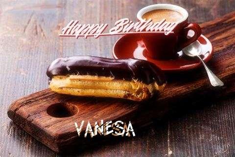 Happy Birthday Vanesa Cake Image