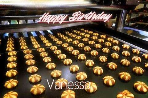 Happy Birthday Cake for Vanessa