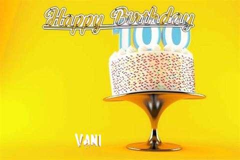 Happy Birthday Wishes for Vani