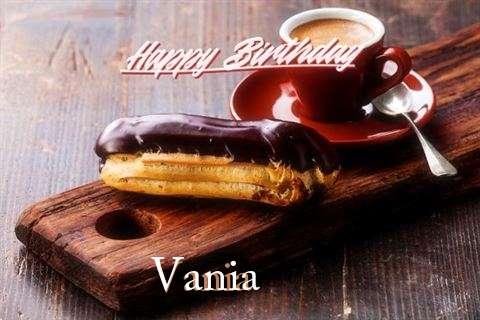Happy Birthday Vania Cake Image
