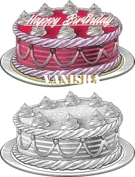 Happy Birthday Vanisha Cake Image