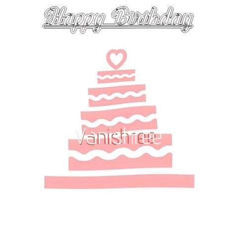 Happy Birthday Vanishree Cake Image