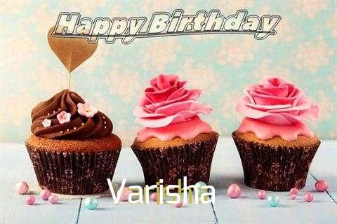 Happy Birthday Varisha Cake Image