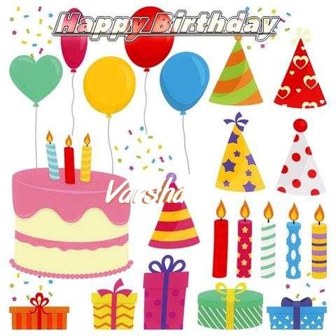 Happy Birthday Wishes for Varsha