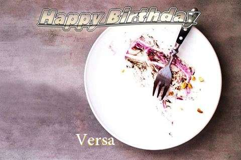 Happy Birthday Versa Cake Image
