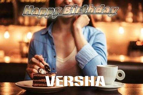 Happy Birthday Cake for Versha