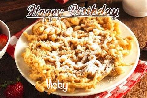 Happy Birthday Vicky Cake Image