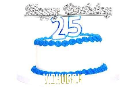 Happy Birthday Vidhubala Cake Image