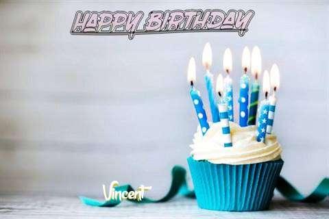 Happy Birthday Vincent Cake Image