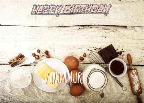Happy Birthday Vinjamuri Cake Image