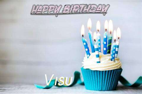Happy Birthday Visu Cake Image