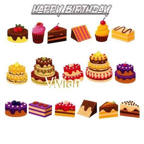 Happy Birthday Vivian Cake Image
