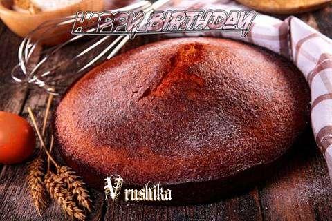 Happy Birthday Vrushika Cake Image