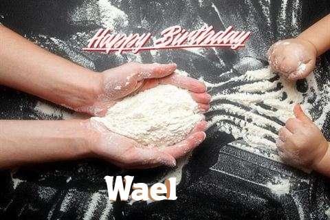 Happy Birthday Wael Cake Image