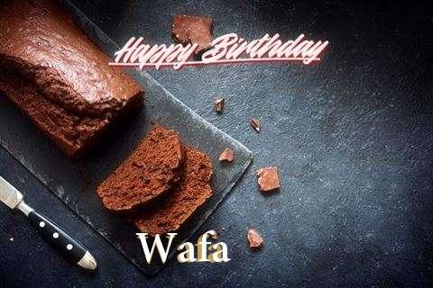 Happy Birthday Wafa Cake Image