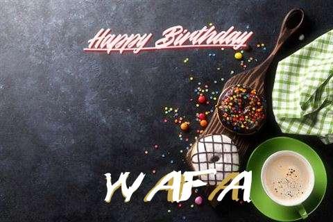 Happy Birthday Cake for Wafa